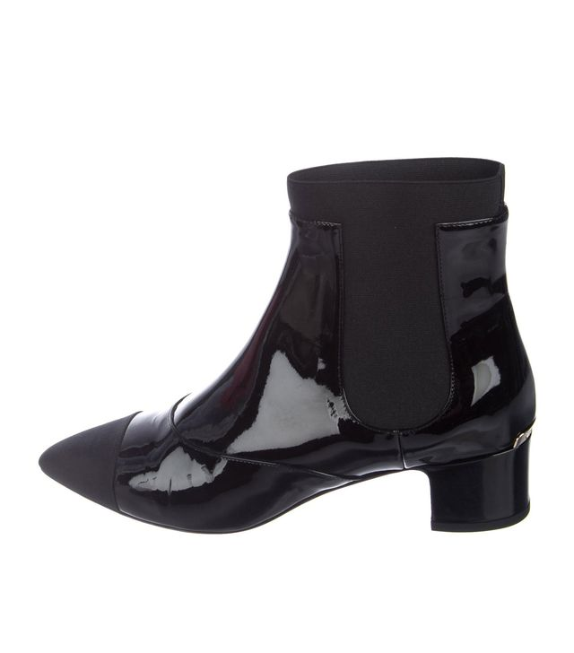 Chanel Patent Leather Booties