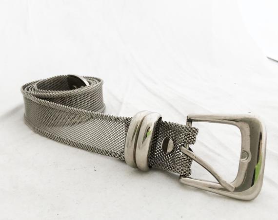 Vintage Mesh Silver Mesh Vintage Belt