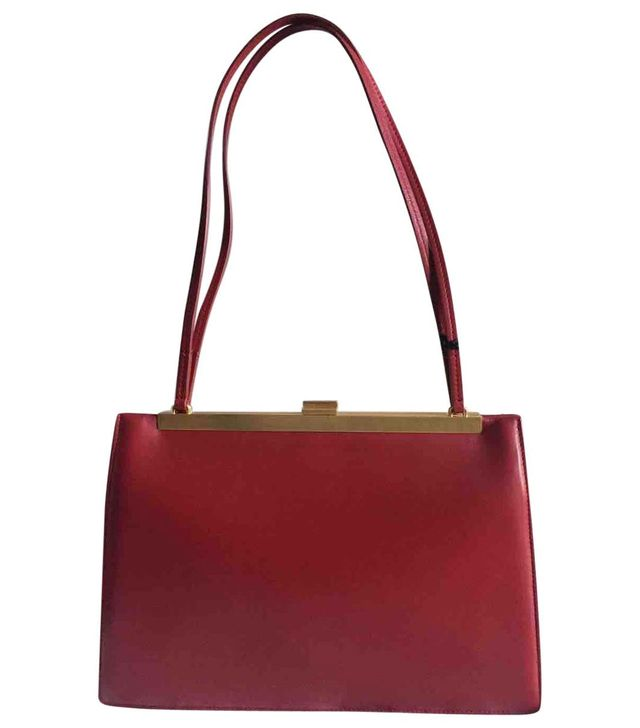 Céline Clasp Leather Handbag