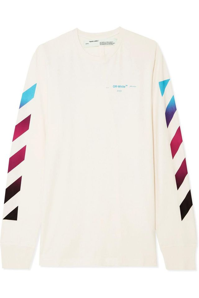 Printed Cotton-jersey Top