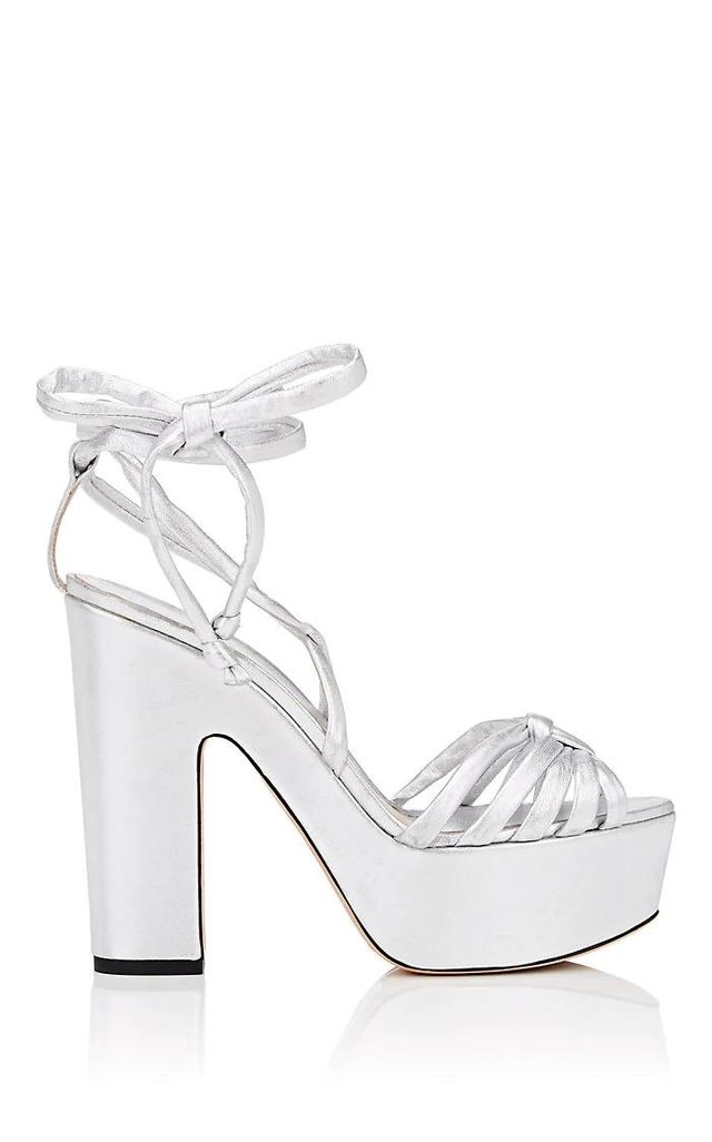 Women's Tara Leather Ankle-Wrap Platform Sandals
