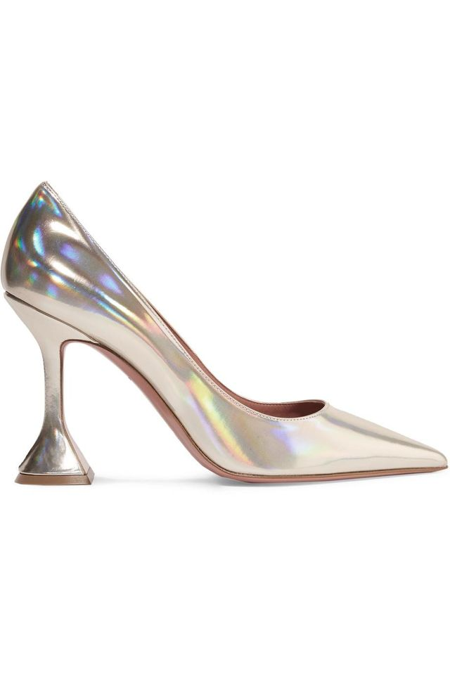 Ami Iridescent Leather Pumps