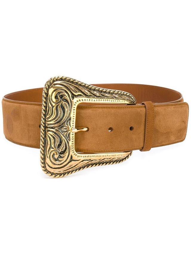 Western belt, Women's, Size: 75, Nude/Neutrals, Goat Skin/metal