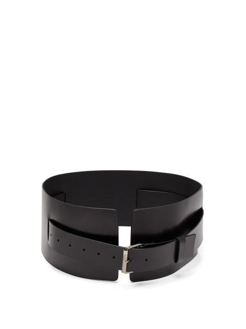 - Kenya Wide Leather Belt - Womens - Black