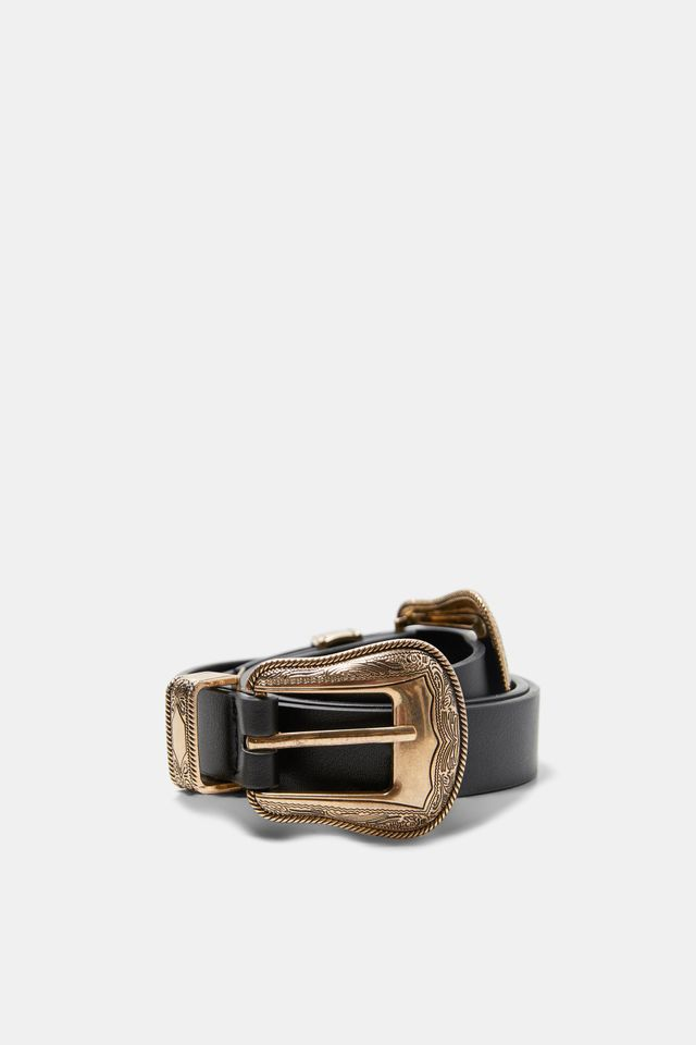 Zara Metalwork Double Buckle Belt