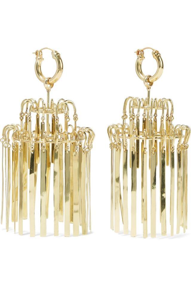Veil Xl Chandelier Gold-plated Earrings