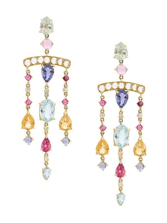 Theodora Chandelier 18kt gold earrings
