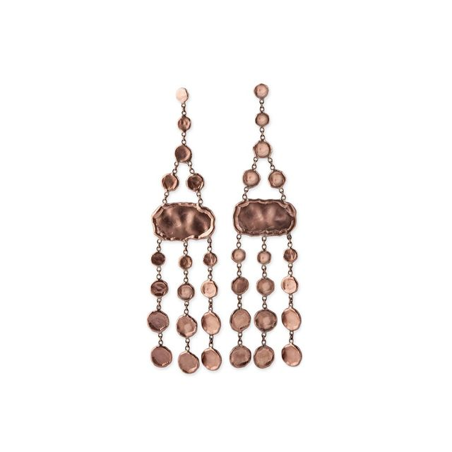 Jacquie Aiche Hammered Disc Chandelier Earrings