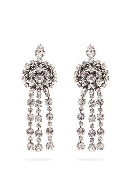 - Crystal Drop Earrings - Womens - Crystal