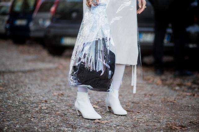 Clear PVC Bag at Fashion Week
