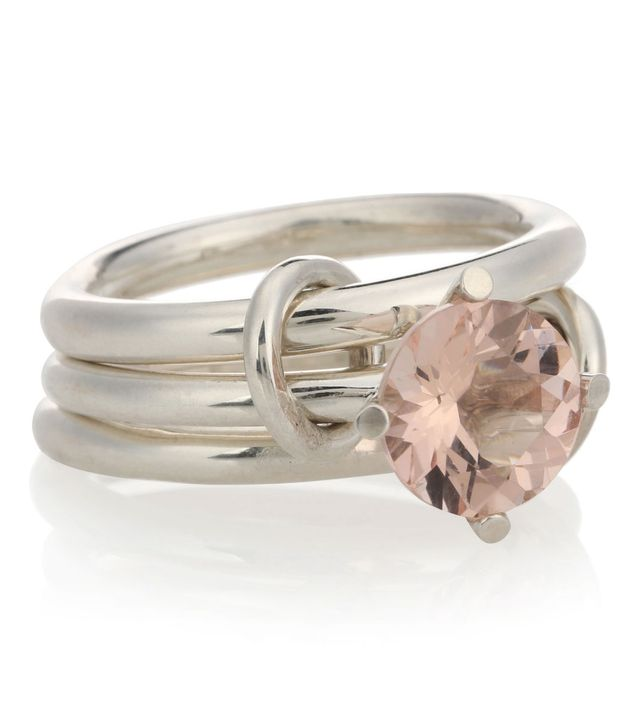 Spinelli Kilcollin Atria Sterling Silver Ring With Morganite