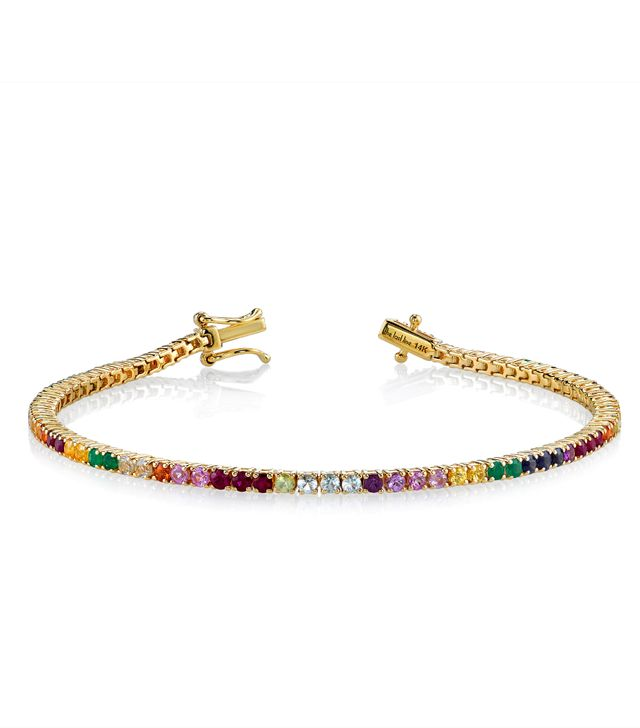 The Last Line Perfect Rainbow Tennis Bracelet
