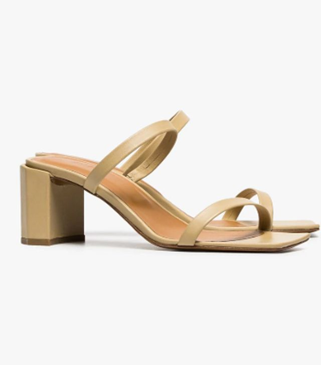 By Far Tan Brown Tanya 65 Leather Sandals