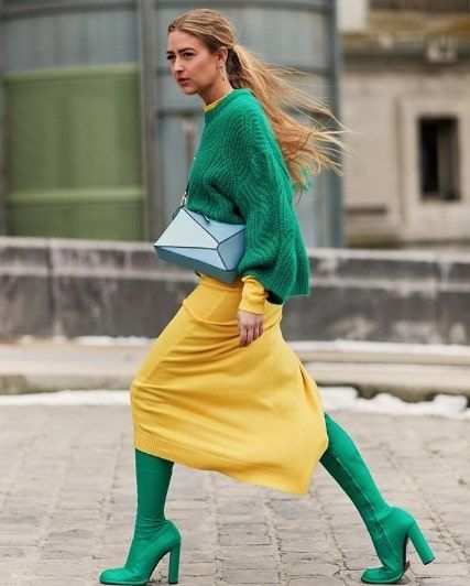 9c14c688748 These 15 Green Sweater Outfits Will Brighten Up Your Winter