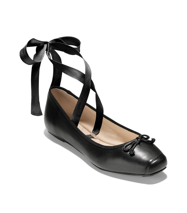 Downtown Ankle Wrap Ballet Flats