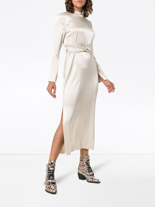 Sadie high neck belted dress