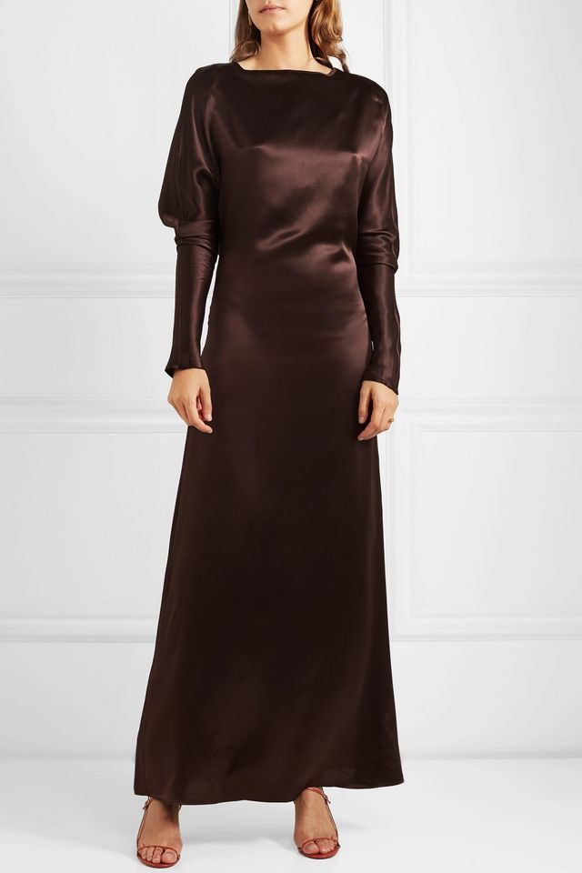 Alma Silk-satin Maxi Dress