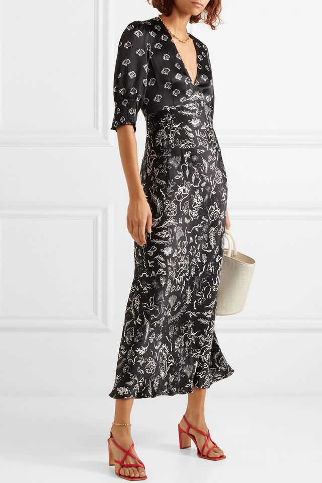 Laura Jackson Zadie Printed Silk Maxi Dress
