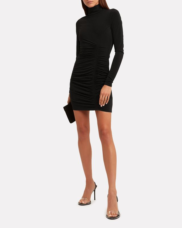 Cinq à Sept Alina Turtleneck Mini Dress Black 2