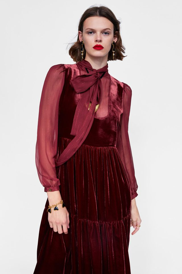 Zara Velvet Look Dress