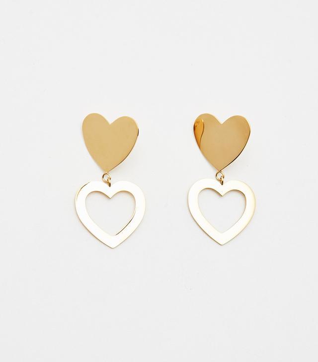Bagatiba Double Heart Stud Earrings