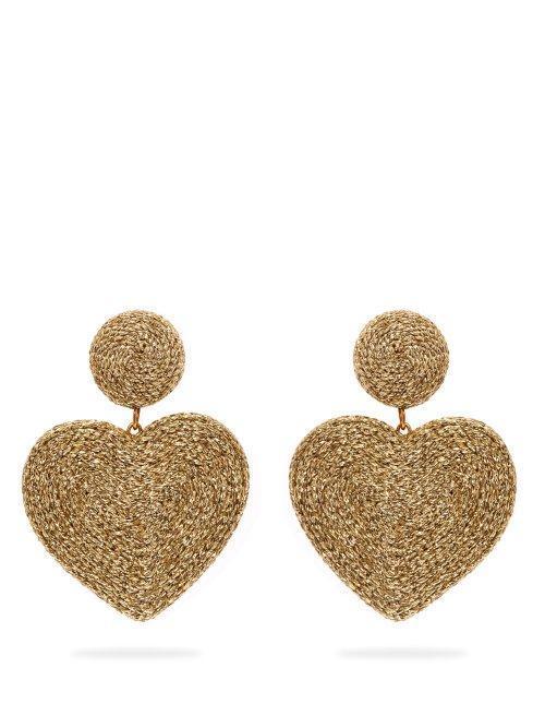 Cora Heart Cord Earrings in Gold