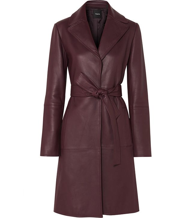 Theory Leather Trench Coat