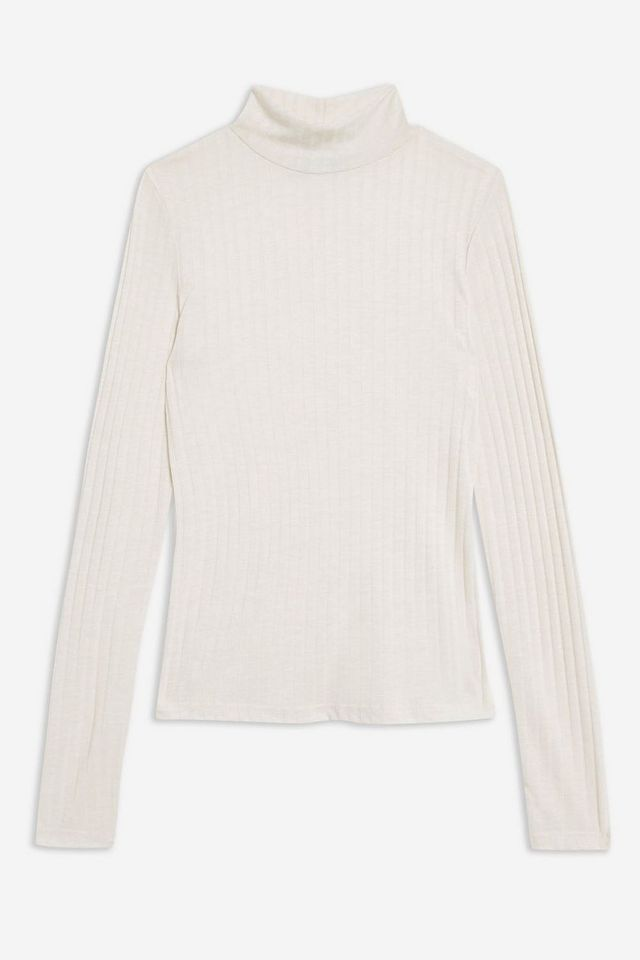 Long Sleeve Funnel Neck Top