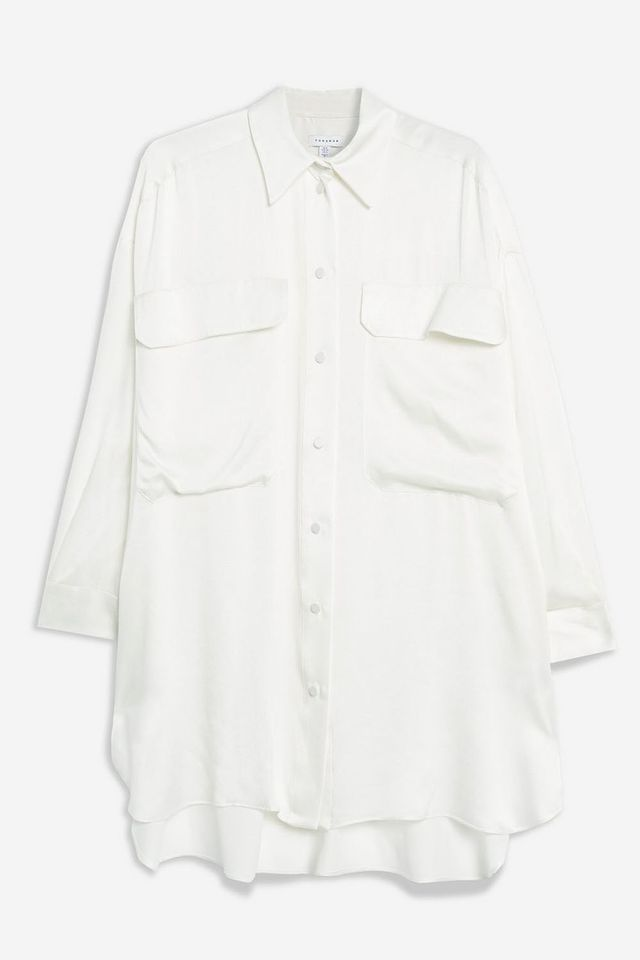 *Silk Oversized Shirt Dress by Boutique