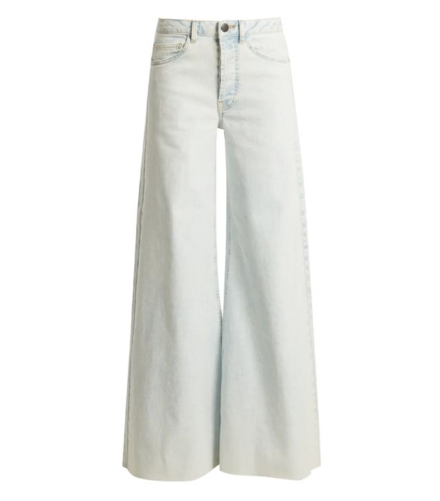 - Loon Wide Leg Jeans - Womens - Blue White