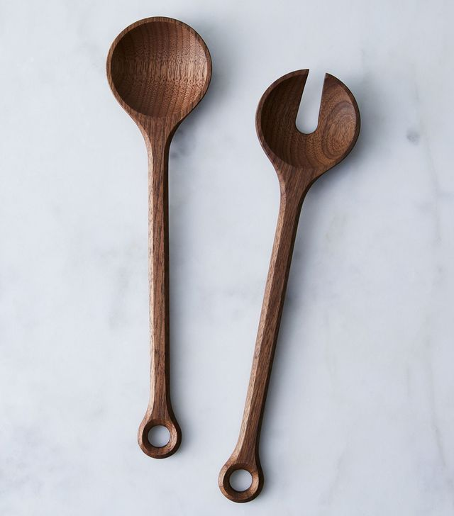 Black Swan Handmade Walnut Salad Servers
