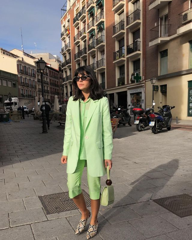 Lime green suit outfit