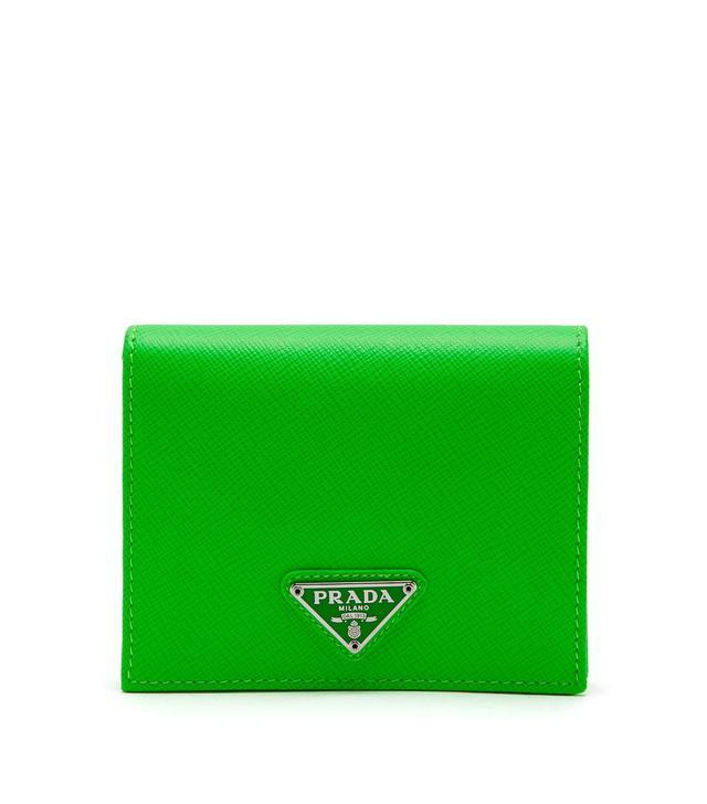 - Saffiano Leather Bi Fold Wallet - Womens - Green