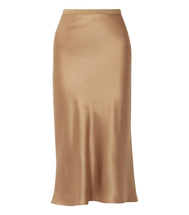 Toast Silk Midi Skirt