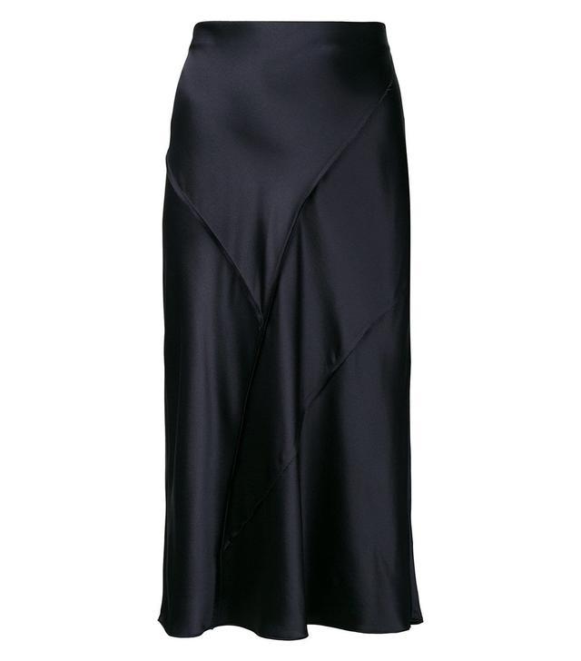 Raw Edge Silk Skirt