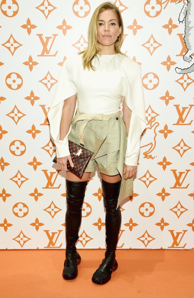 Sienna Miller Red Carpet Sneaker Boots