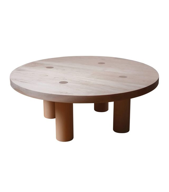 Fort Standard Contemporary Wood Column Coffee Table