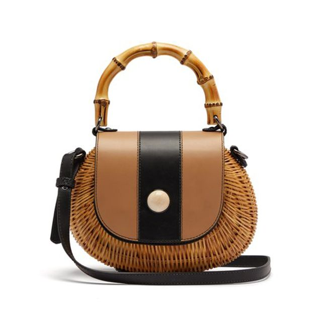 Wai Wai Marina Wicker Basket Bag