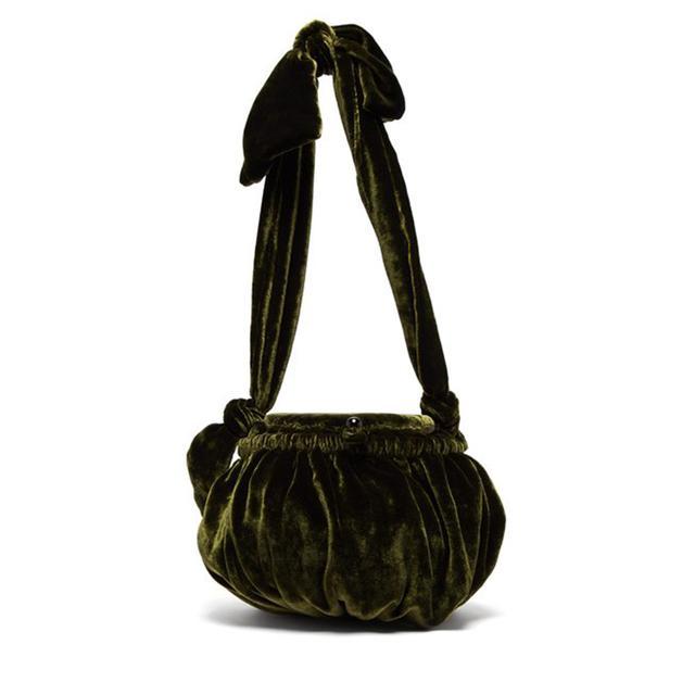 Cult Gaia Joana Gathered Velvet Bag