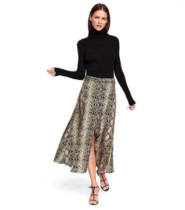 Zara Snake Print Skirt