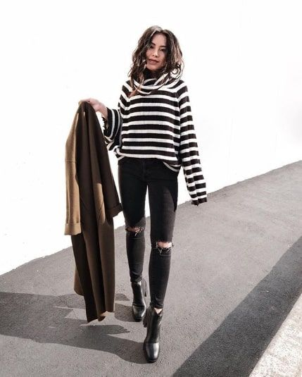 0914b3461b6e 15 Winter Outfits With Black Jeans