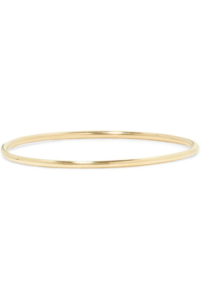 Stone and Strand Ultra Fine 14-Karat Gold Ring