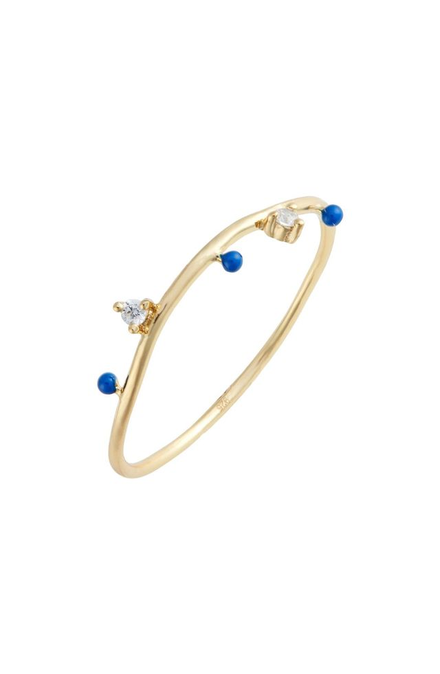 Argento Vivo Beaded Enamel Ring