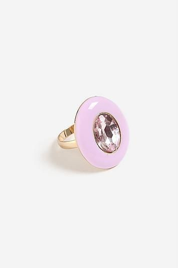 Topshop Mega Enamel and Stone Ring