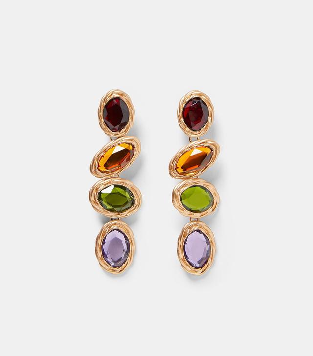 Zara Multicolored Gem Earrings