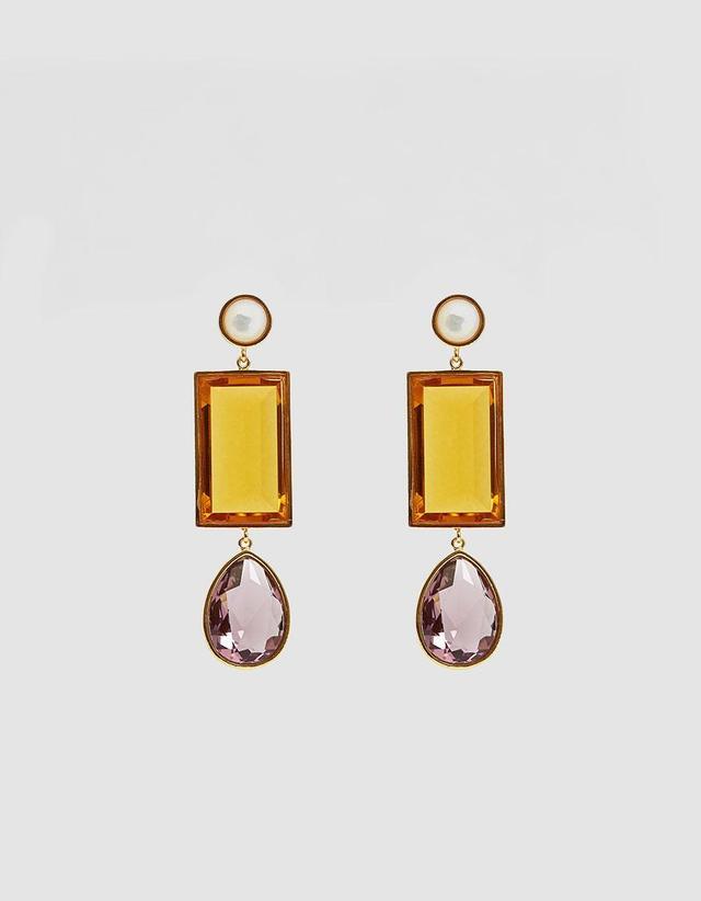 Amber Gem Earrings