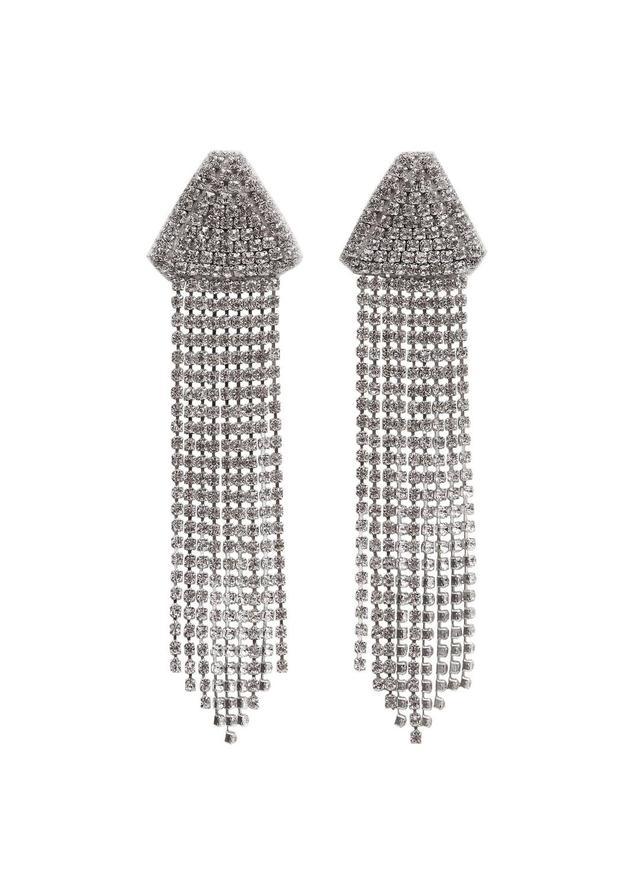 Pendant crystals earrings