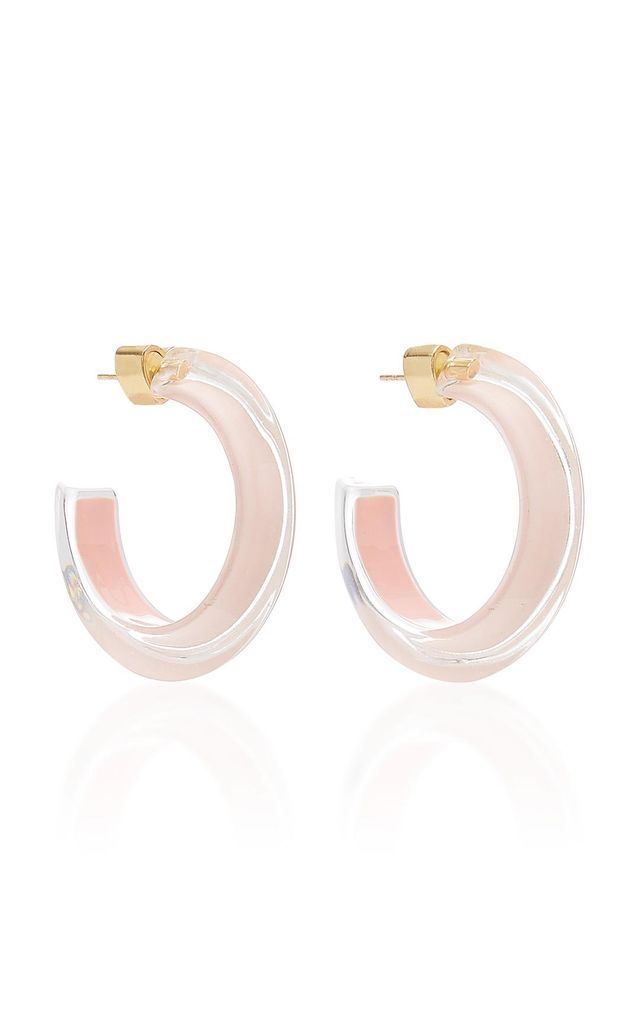 Small Jelly Lucite Hoop Earrings