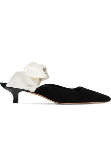 The Row Coco Suede Satin Mules