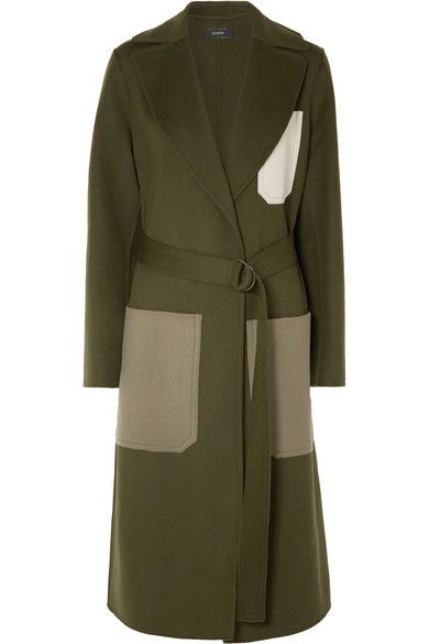 Joseph Colour-Block Wool and Cashmere Blend Coat